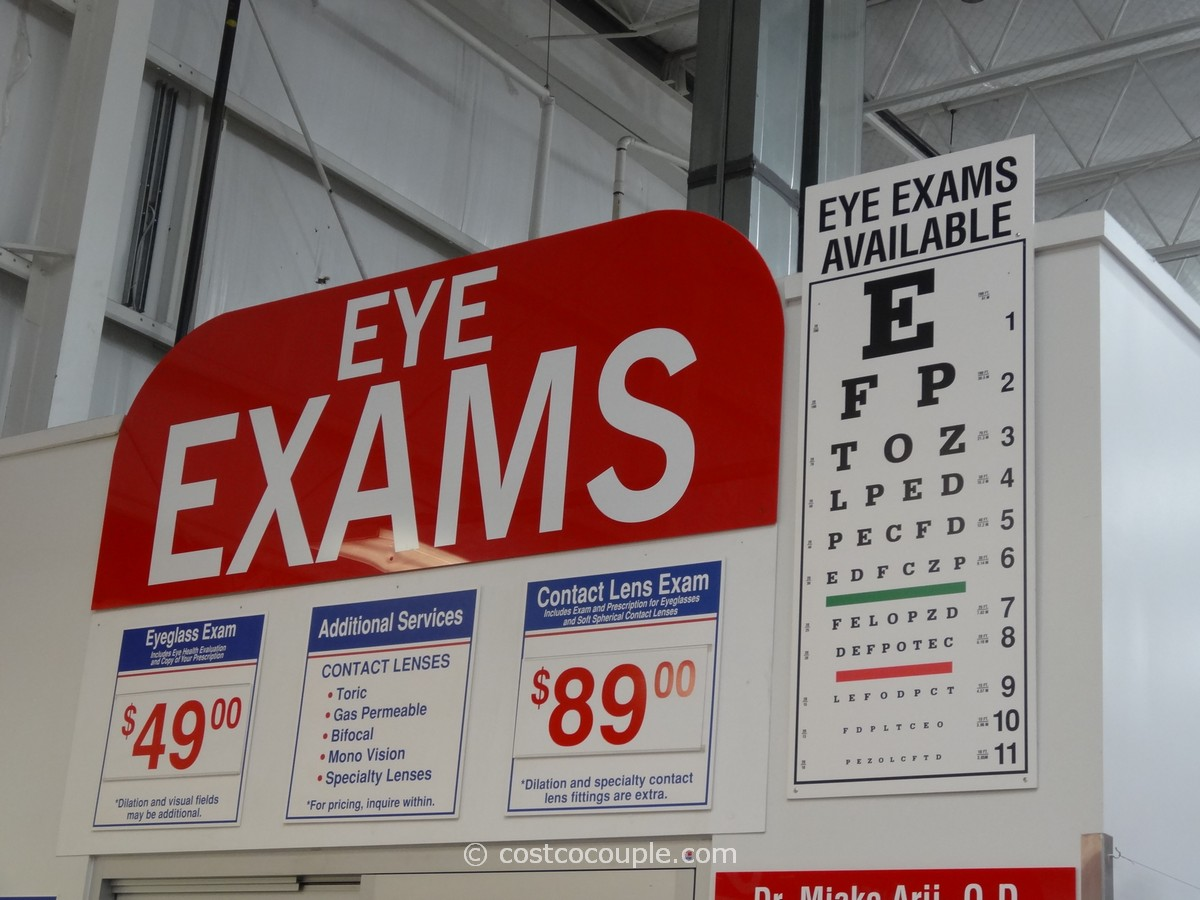 costco eye exam costs