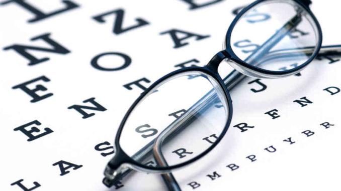 eye-chart at the eye doctor