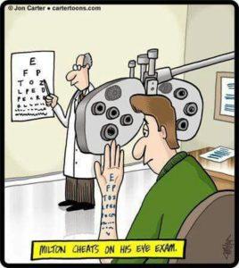 eye chart eye doctor