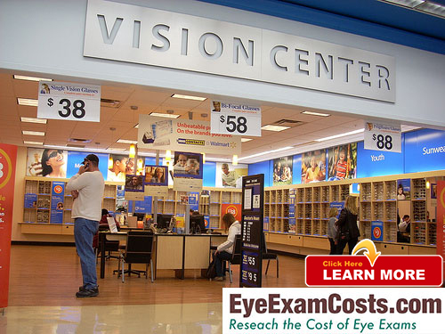 eye exam costs at walmart